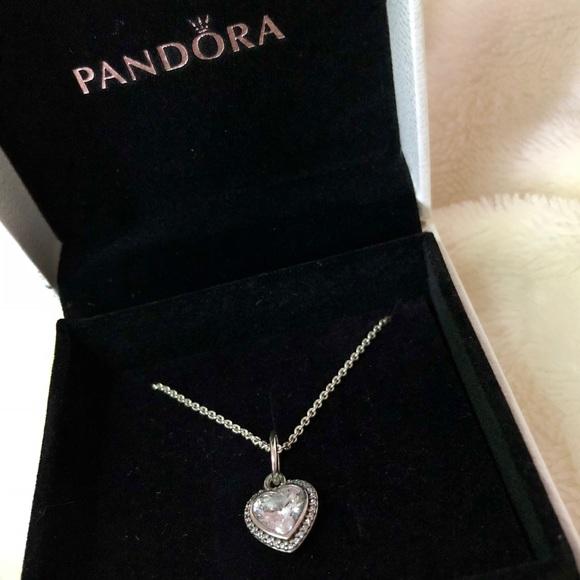 1c530c166 Pandora Sparkling Love Pendant, Clear CZ. M_5a71680a8af1c5a33f86b64d